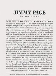(100+) jimmy page | Tumblr. What beloved words from a friend, Joe Perry. It shows that when you have that kind of respect from fellow musicians, we see how talented and special Jimmy Page really is!