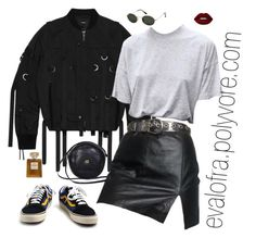 """""""Sin título #968"""" by evalofra ❤ liked on Polyvore featuring Stampd, Vans, Ray-Ban, Lime Crime, Gucci and Chanel"""