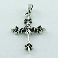 PRETTY CROSS DESIGN PLAIN SILVER 925 HANDMADE STERLING SILVER PENDANT  | eBay