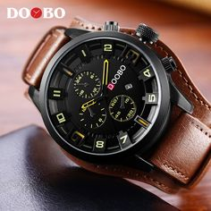 d98566bba37 Relogio masculino DOOBO Watch Men Military Quartz Watch Men Watches Top  Brand Luxury Leather Strap Sports