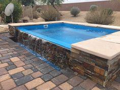 Small Swimming Pools, Small Pools, Swimming Pools Backyard, Swimming Pool Designs, Pool Landscaping, Above Ground Fiberglass Pools, Small Fiberglass Pools, In Ground Pools, Backyard Pool Designs