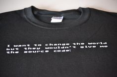 Programmer t shirt funny source code computer geek screenprint programming mens video game app geekery clothing gift for boyfriend husband. $14.99, via Etsy.