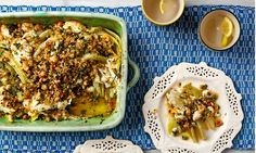 Thomasina Miers' fennel and ricotta gratin with hazelnut gremolata: 'Mouth-watering.'