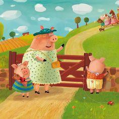 Children's book about ferma by Inna Chernyak, via Behance