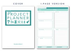 Free Project Planner Template Project Plan Template Get Your Free Pretty Planner  Pinterest .