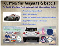 This is why car magnets and decals are booming nowadays amongst the people. Custom Car Magnets, Word Out, Promote Your Business, Business Branding, Custom Cars, Fundraising, Decals, Messages, People