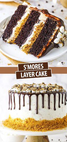 Easy Cake Recipes, Cupcake Recipes, Sweet Recipes, Baking Recipes, Dessert Recipes, Cake Receipe, Layer Cake Recipes, Frosting Recipes, Just Desserts