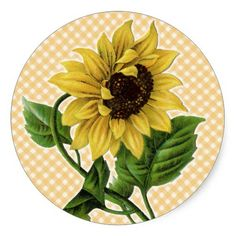 Sunflower Stickers for Wedding Celebration