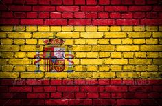 Brick wall with painted flag of Spain ...  abstract, architecture, backdrop, background, banner, brick, brickwall, brickwork, building, close, closeup, country, damaged, decor, design, dirty, distressed, drawing, espana, flag, graphic, grunge, grungy, home, illustration, national, old, paint, patriot, pattern, retro, rough, rustic, scene, sign, spain, spanish, square, stains, symbol, texture, textured, urban, vignette, vintage, wall, wallpaper, weathered, world, worn