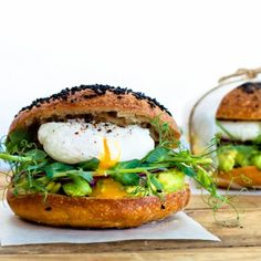 New York style bagels made from scratch with serving suggestions