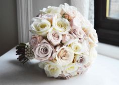I like something like this for my bouquet but it doesn't need to be all roses. Compact rose bouquet including menta, quicksand, earl grey and avalanche roses Rose Wedding Bouquet, Rose Bouquet, Floral Wedding, Wedding Flowers, Grey Roses, Grey Flowers, Propositions Mariage, Wedding Bride, Our Wedding
