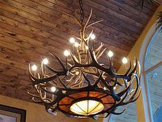 rustic chandelier. Great lighting...