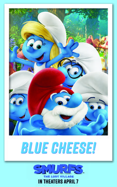 """Who's pumped for the upcoming Smurfs adventure?! In SMURFS: THE LOST VILLAGE, Smurfette and her friends embark on a dangerous journey to uncover the biggest secret in Smurfs history… But first things first: time for a smurfy selfie. Say """"blue cheese""""! 
