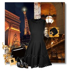 """LBD"" by jacque-reid ❤ liked on Polyvore featuring Public Library, Lulu Guinness, A.V. Max, Alaïa, Gucci, Chanel and Elizabeth and James"