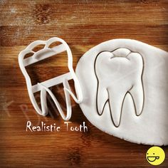 Anatomical Molar Tooth cookie cutter Dental teeth by Bakerlogy