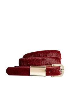 For The Fashionista: ASOS Whistles Metal Tube Detail Leather Jeans Belt, $72