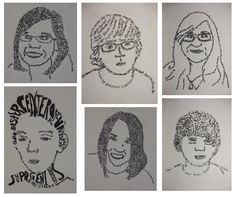 Micrography Portraits...great for self-image, and could be incorporated into a poem or narrative unit!