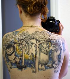 where the wild things are tattoo.  wow.