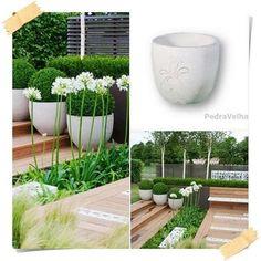 Gosta de jardins contemporâneos ? Sugerimos-lhe um dos nossos vasos em cimento  www.pedravelha.pt  #DamosVidaaoseuJardim #vaso #vasos #pots #bassins #vases #pierreconstituée #concrete #concept #lesidées #ideen #ideias #jardim #Garden #garten #PeçasemCimento #cementpots #whiteconcretepots #whiteconcrete  #agueda #aveiro #portugal #pedravelha