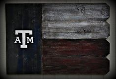 Texas A&M Outdoor Wooden Sign on Etsy, $40.00