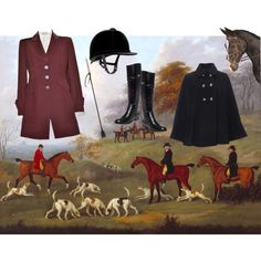 Proper Fox Hunt attire by lillybrooke-1 on Polyvore featuring polyvore, fashion, style, Christian Lacroix, Wallis and Tory Burch