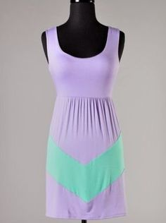 Lavender and Mint Chevron Dress - $38.99 : FashionCupcake, Designer Clothing, Accessories, and Gifts