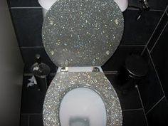 Glitter Toilet Seat! Sooo cool!
