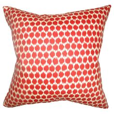 Geometric cotton throw pillow. Made in the USA.   Product: PillowConstruction Material: Cotton cover and down fill