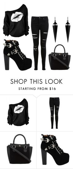 """""""scary"""" by dream-catcher-wolf-girl ❤ liked on Polyvore featuring Miss Selfridge, Jeffrey Campbell and Oasis"""