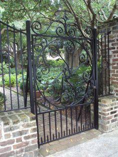 Antique ART Garden: Antique Wrought Iron Gates of Charleston, South Carolina
