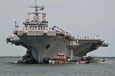 USS Enterprise CVN-65.  This is how it looked when we came home on the Tiger Cruise... manning the rails.