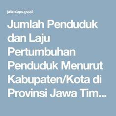 Jumlah Penduduk dan Laju Pertumbuhan Penduduk Menurut Kabupaten/Kota di Provinsi Jawa Timur, 2010, 2014, dan 2015