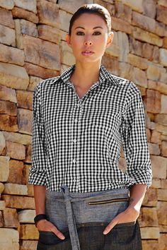 New Gingham Black and white check shirt. Buy online at The Chef s Emporium  Vestito Di dd3bdbeb4a44