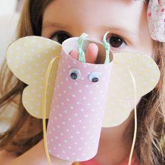 Craft project - Cardboard tube butterflies – Clara and Macy Cardboard Tube Crafts, Cardboard Rolls, Hobbies And Crafts, Crafts To Make, Arts And Crafts, School Projects, Craft Projects, Projects To Try, Make A Solar System
