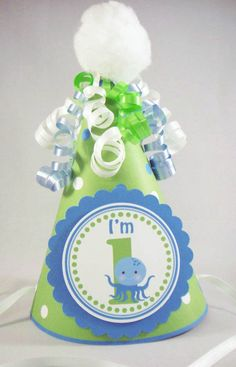 Under the Sea Birthday Party Hat  Ocean Creatures  by 10candles, $8.75