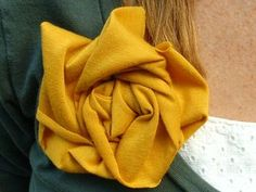Knit Fabric Flower