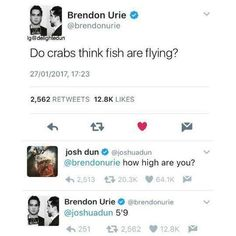 Brendon and Jishwa. Lol. I love that they're all friends. And yes I know it's fake. Still funny.