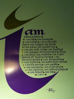 This was a poster that was on the wall of our classroom for the LifePrints Intensive.  All of us loved the message....