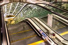 At the Metro Station Nowy Świat-Uniwersytet, in Warsaw, Poland.
