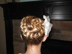 Awesome Beautiful Conch Shell Bun. But Instead Of A Full Braid, Curl The Ends. I  Got It Done At The Hair Barn In Gate City, Virginia.