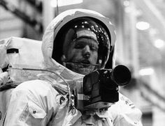 Apollo 11 Spacecraft Commander Neil Armstrong in the spacesuit as he will appear on the lunar surface at the Manned Spacecraft Center, Houston, TX. April 18, 1969