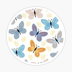 Butterflies; Where flowers bloom, so does hope. • Millions of unique designs by independent artists. Find your thing. Artist Names, Glossier Stickers, Mask For Kids, Art Boards, Magnets, Vibrant Colors, Finding Yourself, Bloom, Butterfly
