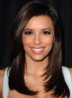 Long, Brunette Hairstyles By Eva Longoria Style - Celebrity Hairstyle