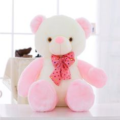 Dolls & Stuffed Toys 36cm Glowing Heart Flashing Plush Led Light Loving Pillow Luminous Colorful Stuffed Creative Gifts Toys For Children Girl Kids Aesthetic Appearance