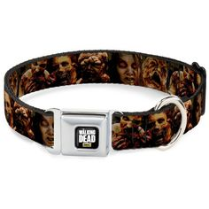 Walking Dead Horror TV Series Walkers Angry Faces Seatbelt Pet Dog Cat Collar *** Click image for more details.