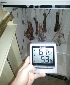 How to convert a refrigerator for curing meat or aging cheese.