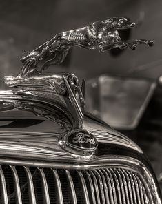 Hood ornament on a 1935 Ford Roadster.