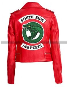 Women 's Riverdale Southside Serpents Madelaine Petsch Cheryl Blossom Red Jacket for sale online Cheryl Blossom Riverdale, Riverdale Cheryl, Riverdale Merch, Riverdale Fashion, Riverdale Cole Sprouse, Jackets For Women, Clothes For Women, Red Jackets, Outerwear Jackets
