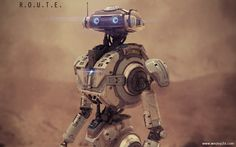 R.O.U.T.E Exploration Robot 2, wesley griffith on ArtStation at https://www.artstation.com/artwork/r-o-u-t-e-exploration-robot-2