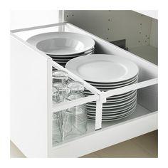 METOD / MAXIMERA Unterschr.f. Kochf./2 Fronten/2Sch. - Veddinge weiß, weiß, 80x60 cm - IKEA